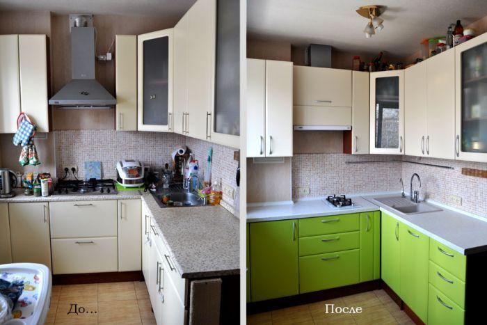 Реставрация фасадов кухни своими руками 760