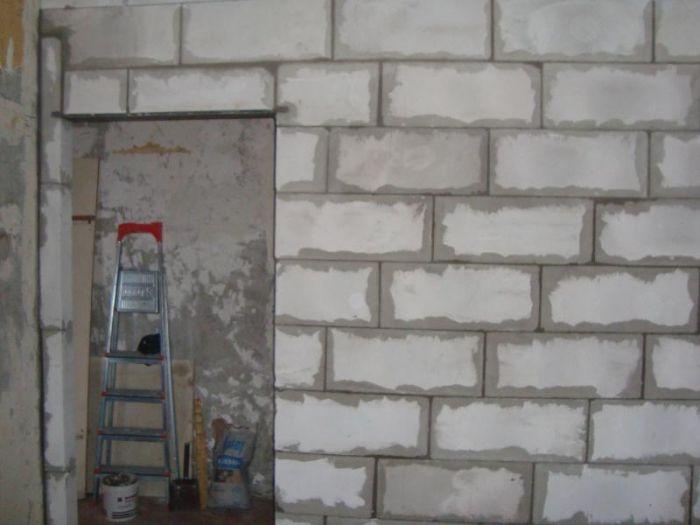 Как сделать проем в стене из пеноблока 676